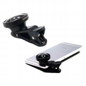 유니버설 클립 셀카 렌즈 3in1 LQ-001 (블랙) [스마트폰용 / 어안렌즈,접사렌즈,광각렌즈]