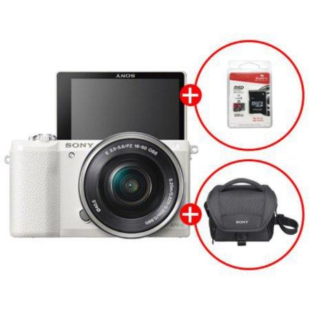 알파 A5100L 미러리스 카메라[화이트][본체+16-50mm][16GB메모리카드+가방 증정]