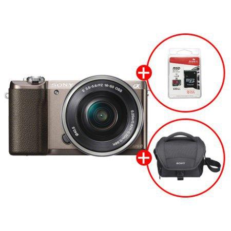 [정품등록이벤트]알파 A5100L 미러리스 카메라 렌즈KIT[티탄][본체+16-50mm][16GB메모리카드+가방 증정]