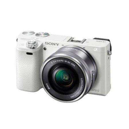 알파 A6000L 미러리스 카메라 렌즈KIT[화이트][본체+16-50mm]
