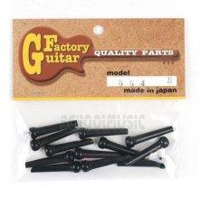 브릿지 기타/베이스 부품 Guitar Factory 통기타브릿지핀12개(554블랙)