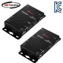 NETmate HDMI+RS232 1:1 리피터(로컬 + 리모트)(100m)(IR 컨트롤)