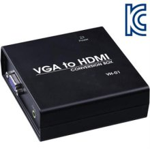 NETmate VGA(RGB)+Stereo to HDMI 컨버터