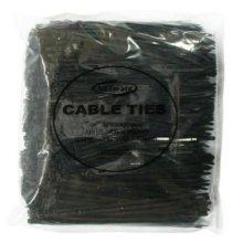 NETmate 타이(Tie) 흑색 200m/m 1봉지(1000개)