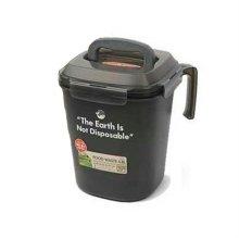음식물 쓰레기통 LDB-500Y (그레이) 4.8L [냄새 및 누구 완벽 차단]
