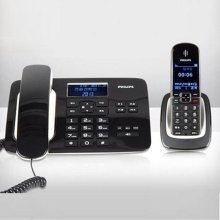 필립스 유무선전화기 DCTG492 [ CID(수신40개/발신10개) / 광다이얼/액정조명기능 / 휴대장치와 고정장치間 통화기능]