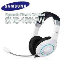 삼성 헤드셋 SHS-150V/W CRE-0095 [40mm유니트 / 2채널 스테레오 / 길이조정밴드 / 편안한볼륨다이얼]