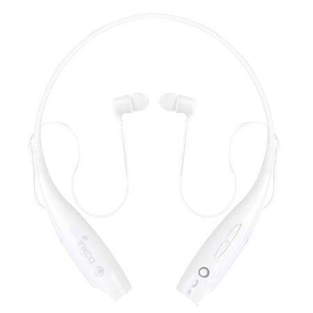 INKCA 넥밴드형 블루투스 이어폰[커널형][화이트][KOCO-B800]