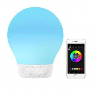 스마트 블루투스 LED 스피커 오라벌브 [ 화이트 / 블랙 ]