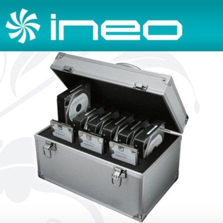 "ineo 알루미늄 하드디스크 보관함(2.5 3Bay + 3.5"" 6Bay) (I-NC23)"