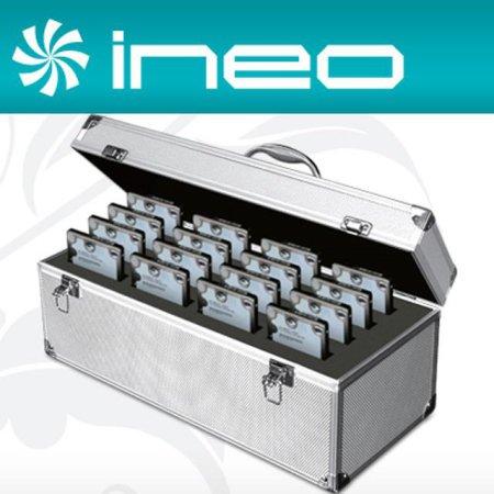 "ineo 알루미늄 하드디스크 보관함(2.5"" 16Bay) (I-NC25)"