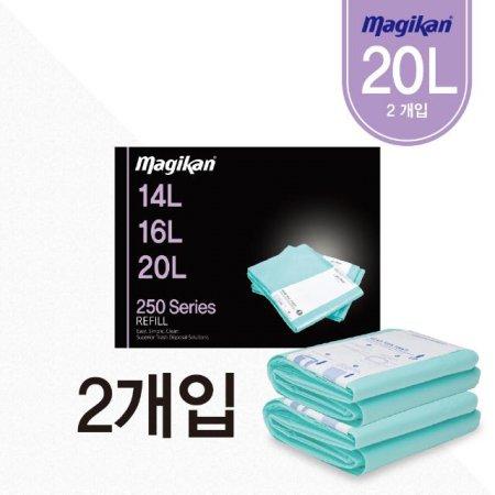 휴지통_14/16/20L 공용 리필 2개입