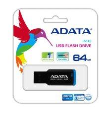 UV140 USB3.0 플래시 드라이브(64GB) [색상:블루 / 클립형USB / 긁힘 및 오염 방지 처리 / AUV140-64G-RBK]