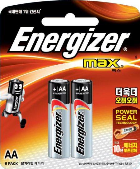 알카라인 맥스 AA 2입에너자이저 AA 2P