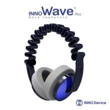 INNO Wave2 헤드폰 (블루) [독특한 웨이브 디자인 / 휴대용 기기에 최적화된 1.2m 코드와 플러그 / 조절 가능한 헤어밴드 슬라이더]