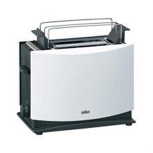 멀티퀵3 토스터 HT450 [화이트 / 스테인레스 2구 / 7단계 온도조절 / 받침대 2종,뚜껑 포함]