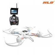 연습용 드론 HLB-550G [ 화이트 / 4.3인치 LCD 모니터 리모콘 / HD급 드론 / 놀라운 탄성으로 기체의 튼튼함 ]