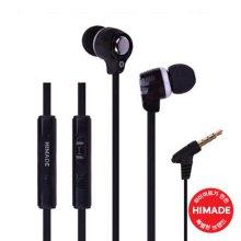 커널형 이어폰 HIMEAR-L0013BK [ 꼬임방지 플랫케이블 / MIC&Volume Control ]