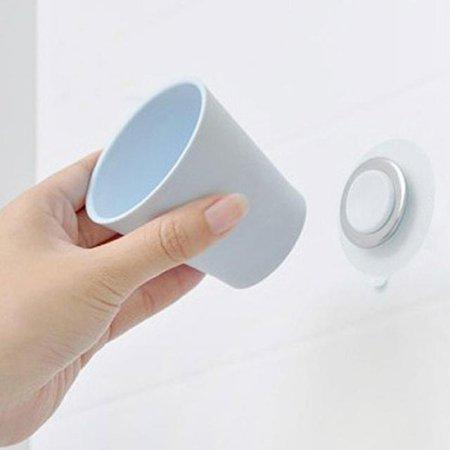 강력흡착 위생 양치컵 홀더 SET 블루