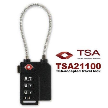 3중번호잠금 와이어자물쇠 TSA21100 블랙