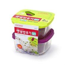 오븐글라스 햇쌀밥용기 410ml 2개세트