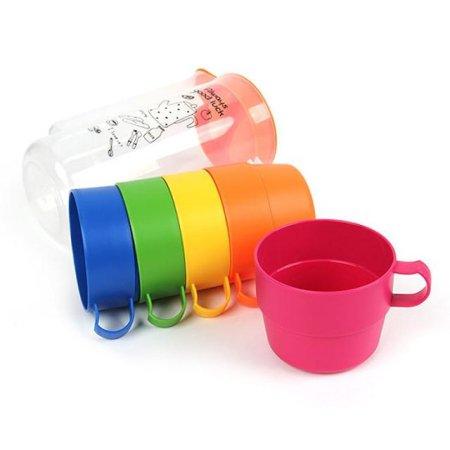 레인보우 물병+컵5P세트