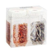 냉장고 문짝정리용기 인터락 좁은형 500ml 2개세트 / 화이트캡 (INL203S2)