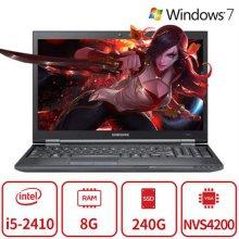 블랙슈트 게이밍 노트북 B5B시리즈 (인텔 코어i5-2410/램8GB/SSD240G/NVIDIA NVS4200/웹캠/DVD/15인치/Window7) 리퍼