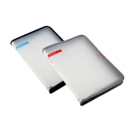 심플한 사무용품 지퍼 파일 케이스 39105 블루