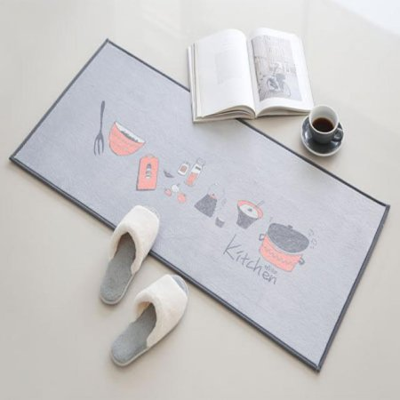 보글보글 주방매트 (그레이+핑크)