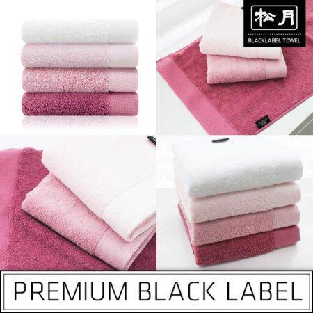 40수 블랙라벨-로즈마리핑크라인 세면타올 분홍