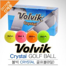 [2017년신제품]VOLVIK 볼빅골프 정품 Crystal 크리스탈 4색칼라 골프볼-8알