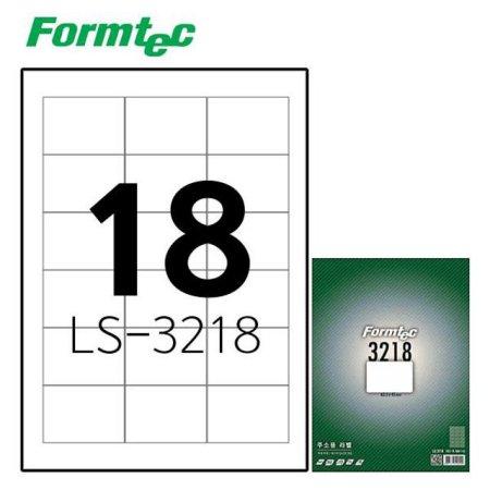 레이저잉크젯 라벨 LS-3218 100매입