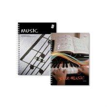 음악노트대3호(12줄) 1권, 색상 랜덤발송