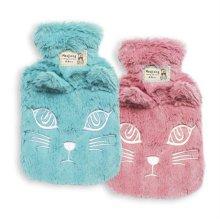 겨울 필수품 고양이커버 만년 보온물주머니 수통 대형핑크