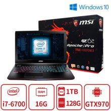 Apache Pro (코어i7-6700/16G/SSD128G+HDD1TB/GTX970/15인치FHD/백라이트키보드/Win10) 리퍼