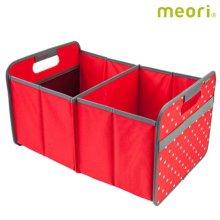 폴더형수납박스(L) MEORI-A100021 [ 레드도트 / 접어서 보관 가능 / 방수, 방염 / 스펀지로 세척 가능 ]
