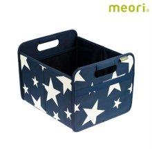 폴더형수납박스(M) MEORI-A100105 [ 네이비 / 접어서 보관 가능 / 방수, 방염 / 스펀지로 세척 가능 ]