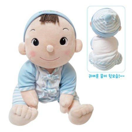 유아 놀이완구&촉각자극 아기인형세트+포대기 1개