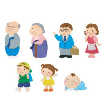 유아 교육자료 가족(7종) 1set