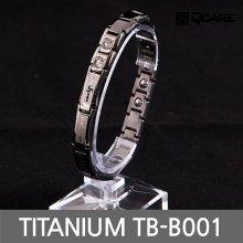 티타늄 게르마늄 자석 팔찌 TB-B001 (다크그레이 S)