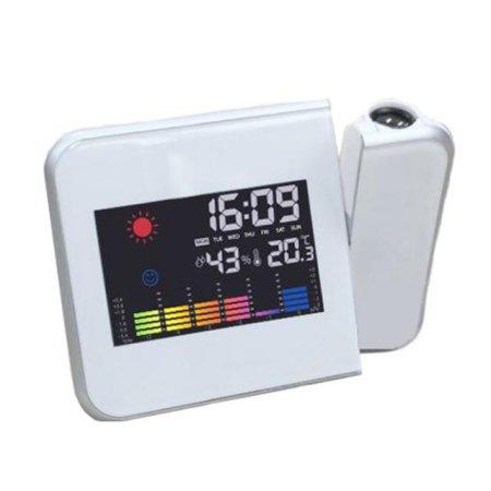 온습도 달력 LCD 인테리어 프로젝터 시계 스마트빔 화이트