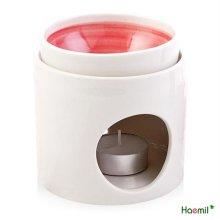 국내산 도자기 아로마 램프 핑크
