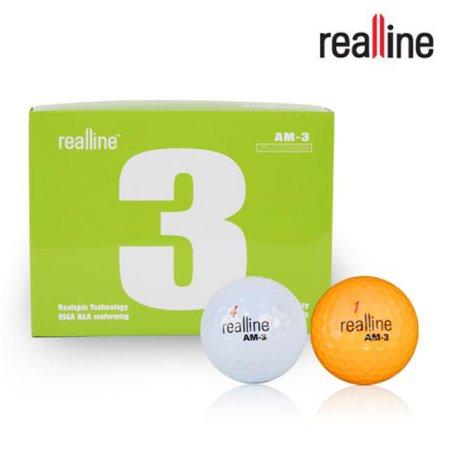 골프공 AM-3 (12알/3피스)/골프용품/골프볼 리얼라인_골프공_오렌지