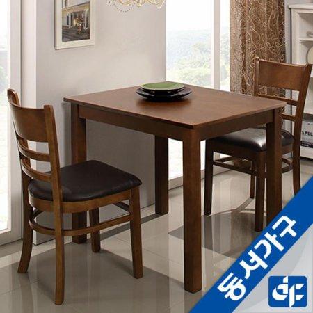 케빈 2인용 식탁테이블(의자미포함) DF629499 (엔틱)
