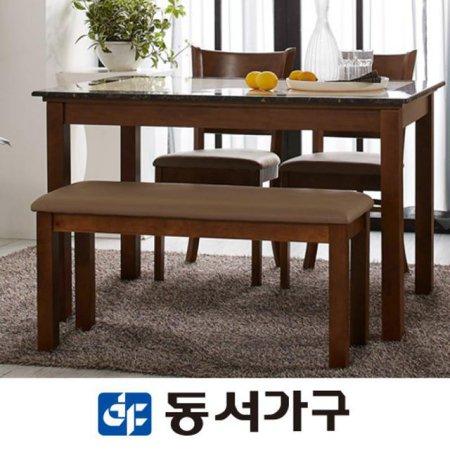 컨셉트K 4인 대리석 벤치형식탁세트 DF630991 (카카오)