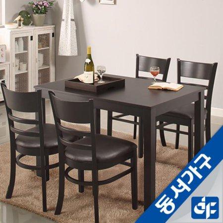 케빈 4인용 식탁테이블(의자미포함) DF629500 (웬지)