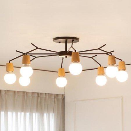 [LED] 보우 8등 거실등 블랙:주광색(하얀빛)