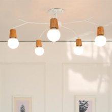 [LED] 보우 5등 거실등 화이트:주광색(하얀빛)