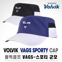 VAGS 스포티 군모 자외선차단 골프캡 모자 블랙